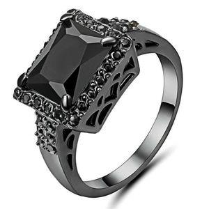 Black Zirconia Garnet Big Stone  Ring New